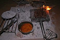 Steak und frisches Brot