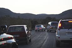 Straßensperre im KNP