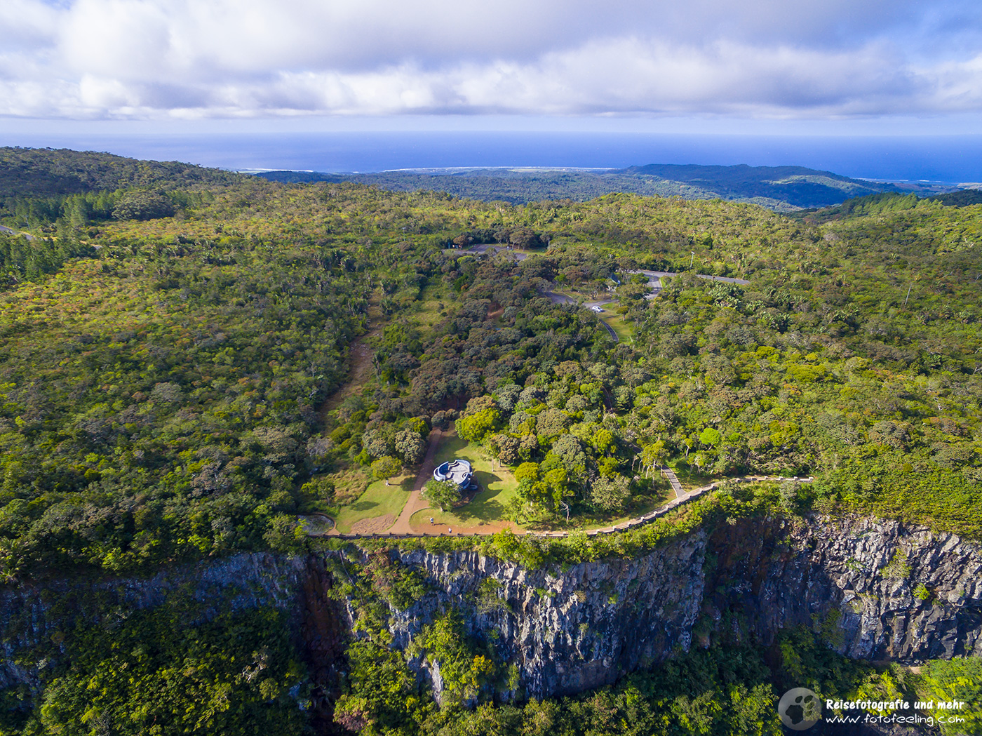 Gorges Viewpoint, Aerial view, Mauritius